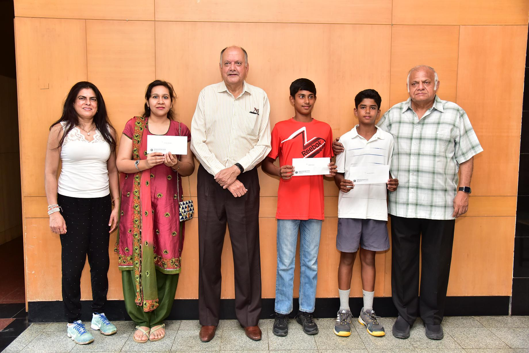 KSLTA felicitated the players for their good performance in the All India tournaments.