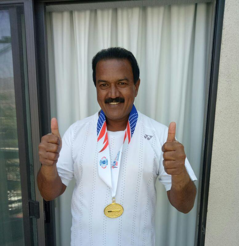 Bns Reddy Ips Won Singles Gold Medal At Usa
