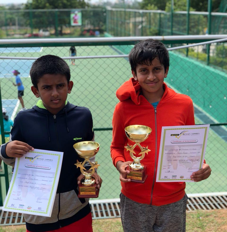 Mustafa Doubles winner Super series U-12