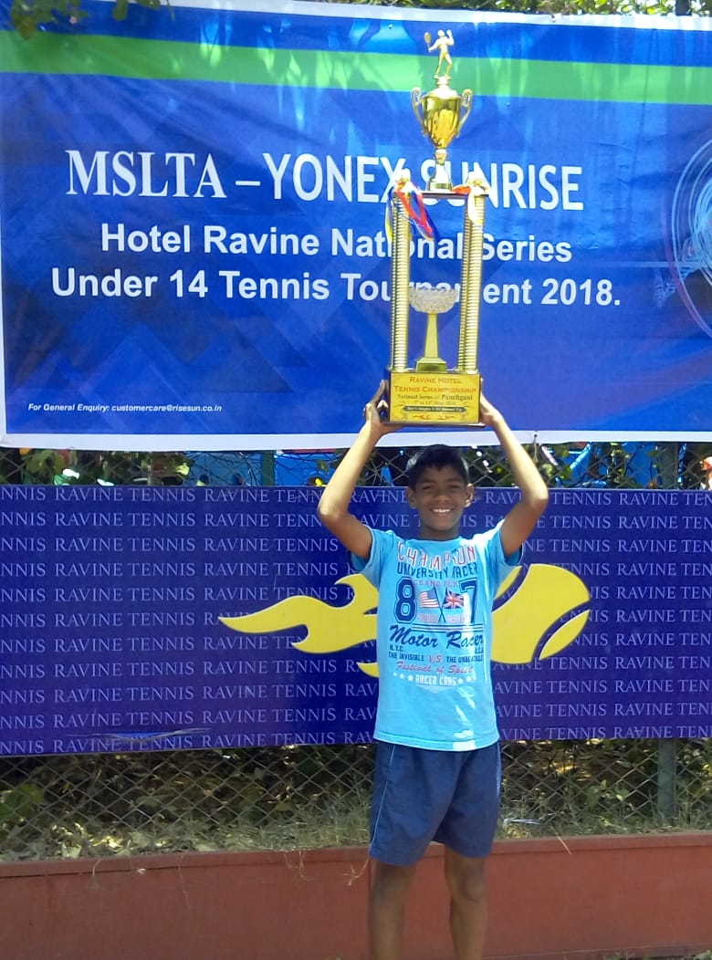 Ronin lotlikar is the Runner-up in singles U 14