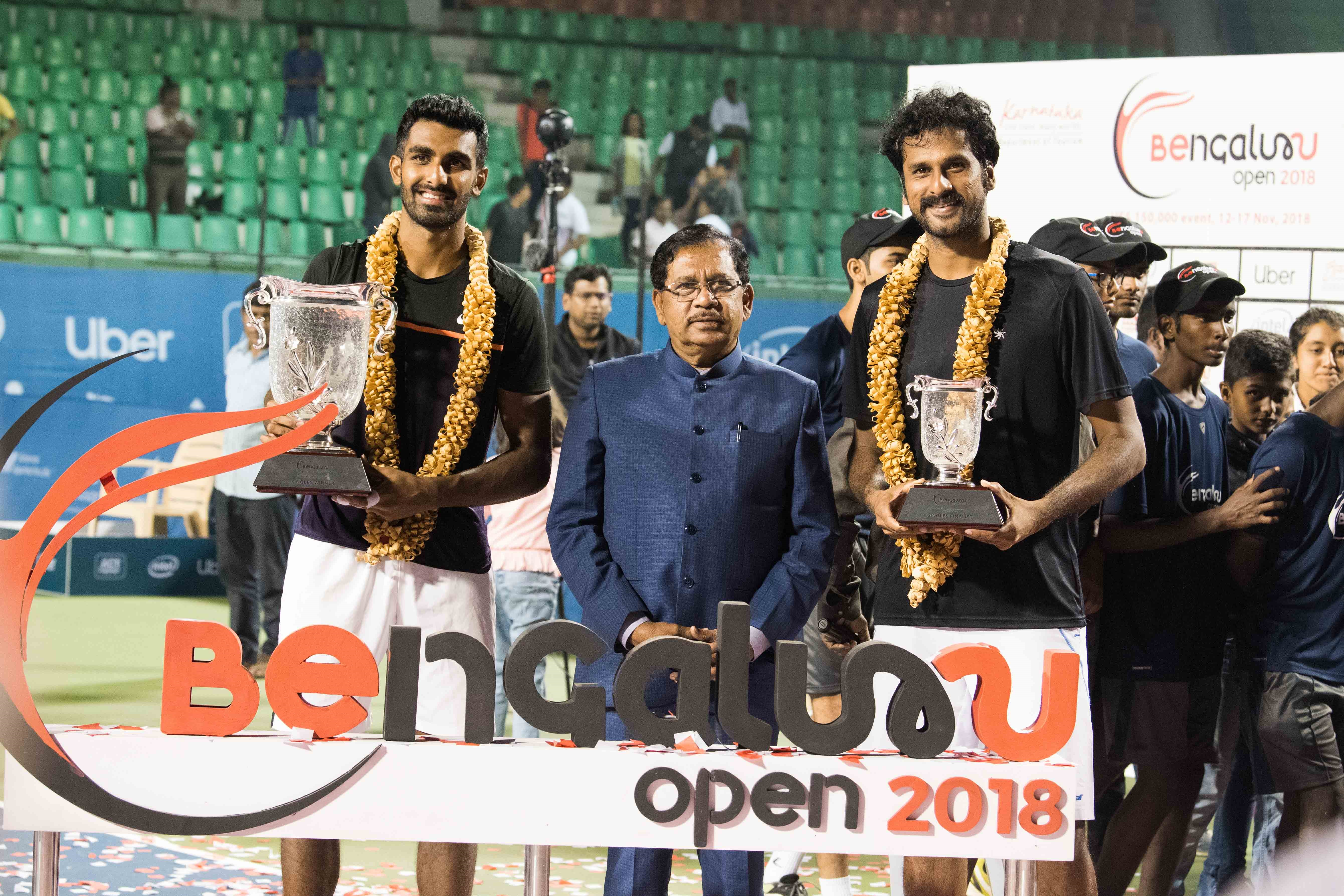 Prajnesh wears the crown at Bengaluru Open